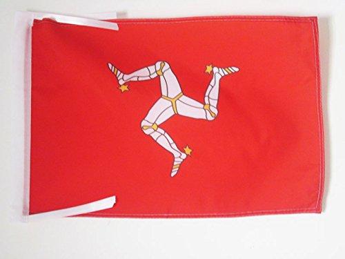 AZ FLAG Flagge ISLE of Man 45x30cm mit Kordel - ENGLISCHE Fahne 30 x 45 cm - flaggen Top Qualität