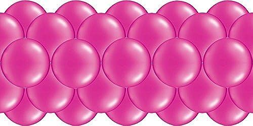 Luftballongirlande  Rosa  100 Meter - partydiscount24