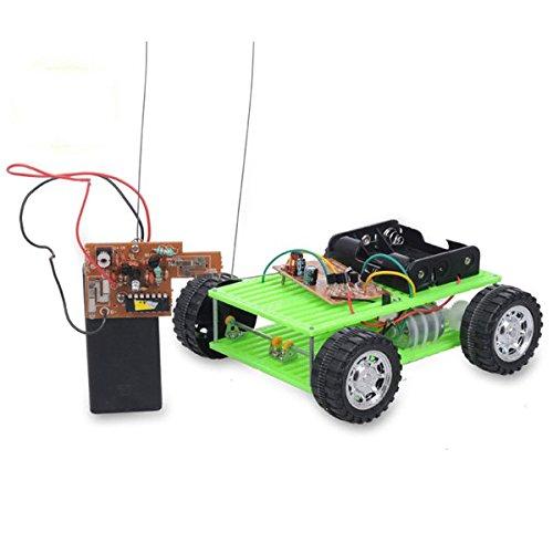 U – 130 x 120 x 40 mm groen 4 kanalen afstandsbediening Intelligent Auto DIY Kit nr. 15 voor kinderen