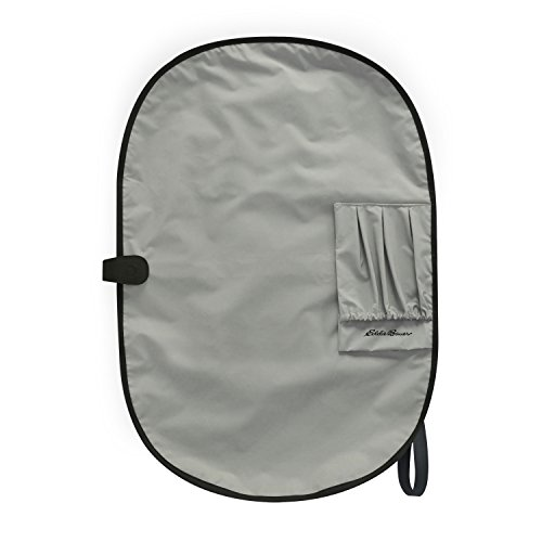 Eddie Bauer Travel Diaper Changing Pad Kit, Front Black and White, Back Grey