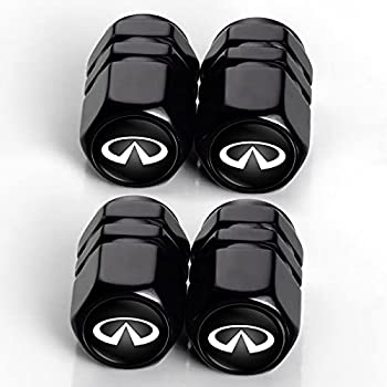 Zhangyuedianzi Metal Car Wheel Tire Valve Stem Caps for Infiniti QX50 Q50 Q70 Q70L Q60 QX30 QX60 QX80 Logo Styling Decoration Accessories