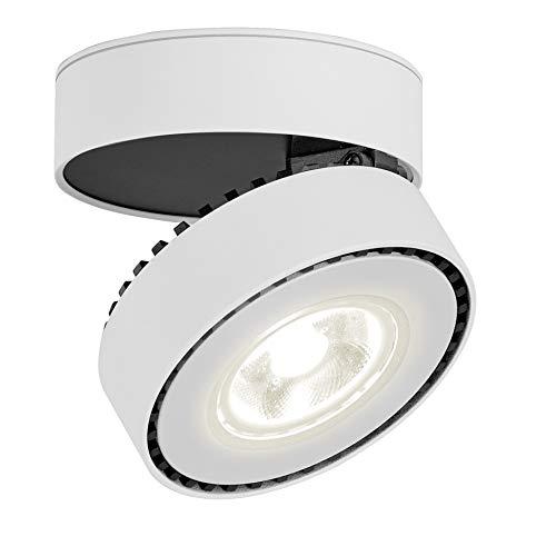 LANBOS 12W LED Aufbauleuchte Deckenleuchte/Deckenspots, Deckenfluter, Deckenstrahler, Decken-Lampe, Wand-Lampe/10x10x6CM/ COB Lampe/Aluminium (Weiß+Naturmweiß)