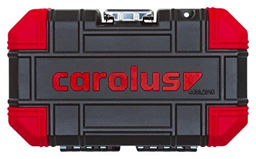 Carolus 5807.2100 Maleta con juegos de vasos 1/2' y 1/4' y herramienta general, 0 W,...