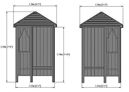 Highwood Corner Arbour with Bench, Pressure Treated Garden Seat