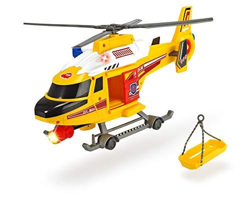 Dickie Toys Air Patrol, Rettungshelikopter, Spielzeughelikopter mit batteriebetriebenen Propeller und Seilwinde, Helikopter, Türen zum Öffnen, Tragbahre, Licht & Sound, inkl. Batterien, 41 cm
