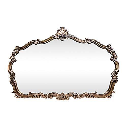 Conemmo Opzet- slaapkamerspiegel Amerikaanse dressing spiegel badkamer muur hangende badkamerspiegel retro make-up spiegel gesneden klassiek wandbehang