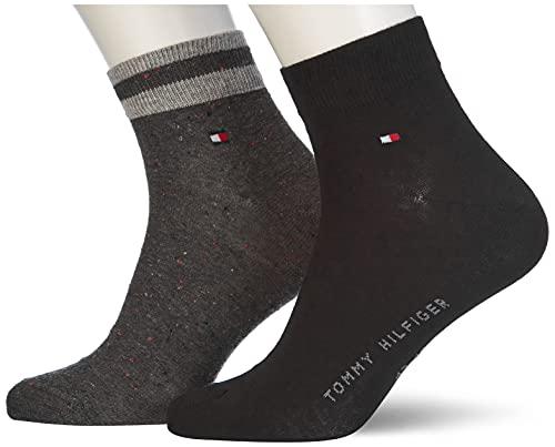 Tommy Hilfiger Mens Neppy Men's Socks Quarter, Black, 43/46