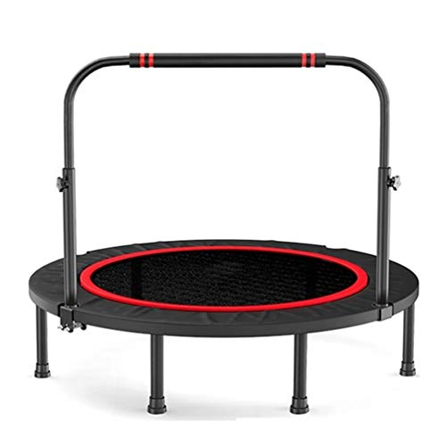TRAMPOLINE AGYH 45-inch Folding, Fitness Bounce Bed With Adjustable Armrests And Safety Pad Cover, Suitable For Home And Gym, Safe Use By Children