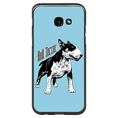 BJJ SHOP Schwarz Hülle für [ Samsung Galaxy A5 2017 ], Klar Flexible Silikonhülle, Design: Schwarz Weiß Bullterrier