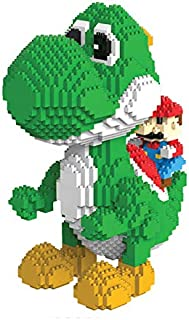 Hobbies DIY Assembly Children's Puzzles Toys Building Blocks Super Mario Yoshi Action Figure Diamond Micro Bricks Big Size Anime 3D Cartoon Kids Gift Toy