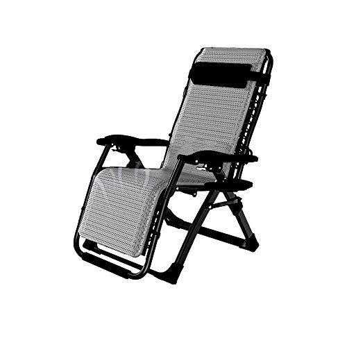 WFFF Silla reclinable para Sala de Estar, Plegable, para el Almuerzo, Siesta, Cama, multifunción, portátil, Silla de balcón, Silla de Playa al Aire Libre