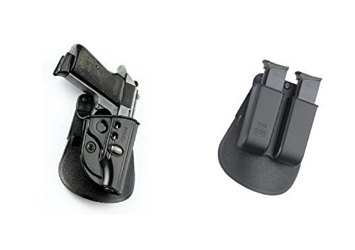 Fobus Pistol Case Paddle Holster + 6922 Double Magazine Pouch for Walther PPK, PPKS (Old Versions) FEG 380 PMK