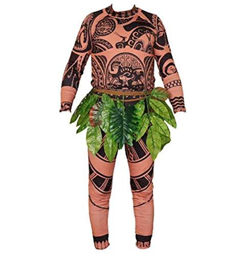 jsadfojsa - Juego de camiseta y pantalón para disfraz de Moana Maui, para adultos, hombres, mujeres, bebés, niños y bebés, para disfraz