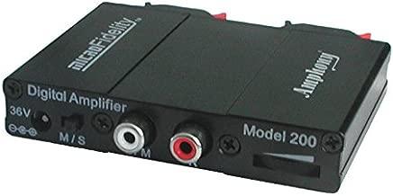 microFidelity Audio Amplifier, Model 200 Black