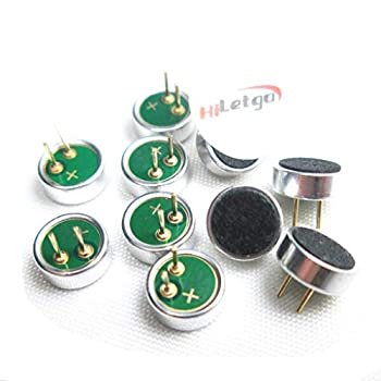 HiLetgo 10pcs エレクトレットコンデンサーマイク52dB