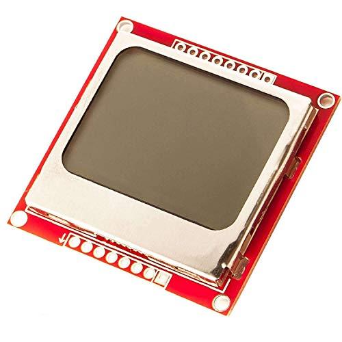 AZDelivery 84x48 Pixel LCD Display mit weißer Hintergrundbeleuchtung und schwarzen Zeichen kompatibel mit Nokia 5110, Arduino und Joystick PS2 Gamepad inklusive E-Book!