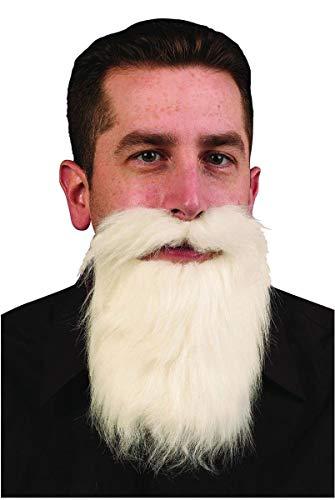 Fun World White Mustache & Long Beard Costume Accessory One Size