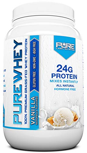 Grass Fed Whey Protein Powder | Vanilla 2lb Grass Fed Whey | 100% Natural Whey w/No Added Sugars | rBGH Free + GMO-Free + Gluten Free + Preservative Free | Pure Whey