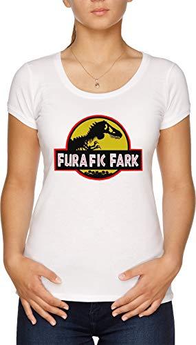 Furafic Fark Camiseta Mujer Blanco