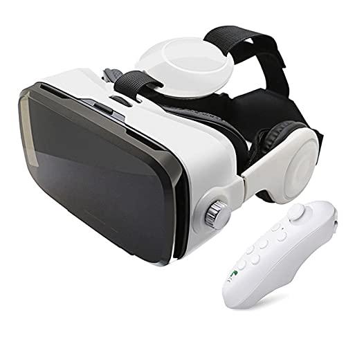 YMXLXL 3D VR Gafas de Realidad Virtual, VR Glasses Visión Panorámico 360 Grado Película 3D Juego Immersivo para Móviles 4.0-6.0Pulgada,Gafas VR con Auriculares,D