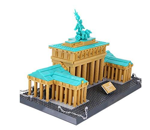 Bloque de construcción Juguete Nano Bloques de construcción Brandeburgo Puerta de Berlín Kit de construcción Modelo Mini Bloques de Diamante DIY Micro Ladrillo Niños Juguetes de Construcción Regalo