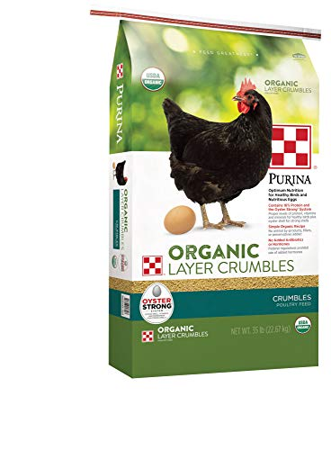 Purina Organic Layer Crumbles Chicken Feed , 35 lb