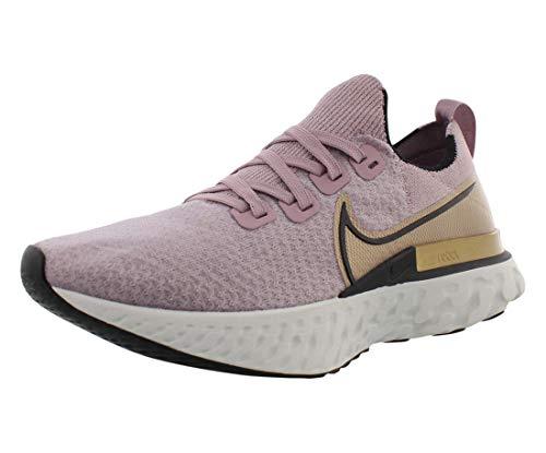 Nike React Infinity Run Flyknit Women's Running Shoe Plum Fog/Black-Metallic Gold Size 8.5