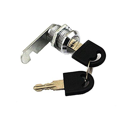 Doutop, serratura per armadietto, a camma, per le porte, gli armadi, gli armadietti e le cassette della posta, da 16mm, 20mm, 25mm, 30mm, con chiavi, 30 mm