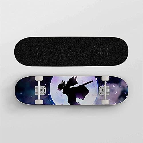 Anime Skateboard per Demon Slayer Kochou Shinobu Full MoonMini Cruiser7 strati Maple Deck Skateboardportante100 kgStreet skateboard per