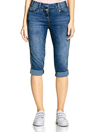 CECIL Damen 372213 Charlize Slim Jeans per pack Blau (mid blue used wash 10320), W29 (Herstellergröße:29)