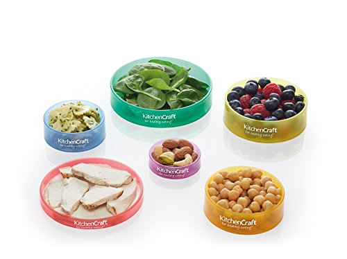 Kitchen Craft Healthy Eating Farbig gekennzeichnete Ringe zur Portionskontrolle, Plastik, Mehrfarbig, 11.3 x 11.3 x 2.8 cm, 6-Einheiten