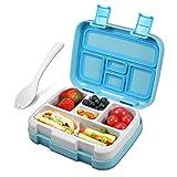 ECHTPower Lunch Box, Porta Pranzo, Bento Box per Bambini a Tenuta stagna Snack Box Portatile Esterno Rimovibile con 5 Scomparti, Lavastoviglie/Approvato/Senza BPA
