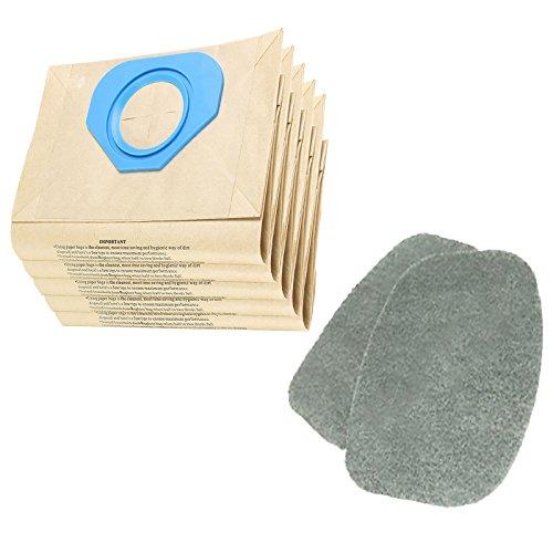 Spares2go filtre Coussinets + Sacs à poussière pour Nilfisk Ga70i Ga70s Ga70tl Aspirateur (lot de 2 filtres + 5 Sacs)