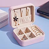 321OU Jewelry Box - Travel Jewelry Box Jewelry Storage and Organizer Jewelry Box for Women Rings, Necklaces and Earrings with Mirror (Pink)
