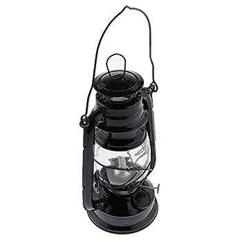Sharplace Lanterne D'ouragan De Lampe à Huile En Métal Vintage Pour Utilisation Extérieur - Noir