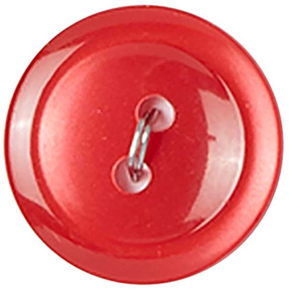Slimline Buttons Series 1-Red 2-Hole 3/4