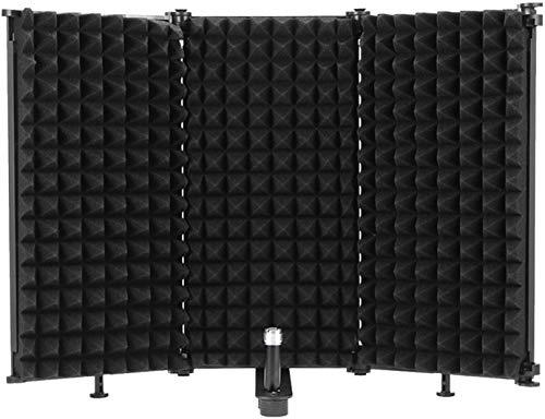 Wowlela Protector de aislamiento de micrófono, reflector de espuma...