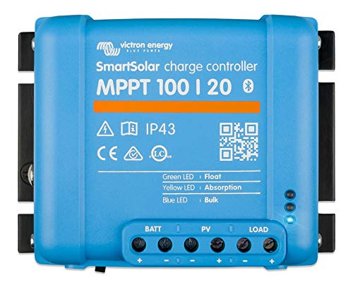 Victron Energy SmartSolar MPPT Charge Controller 100/20-48 12 V 24 V 48 V 20 A Solar Charge Controller Bluetooth integrado SCC110020160R