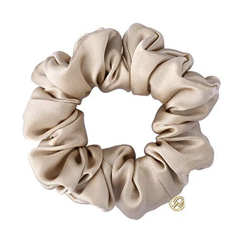 EVITA PERONI Black Mulberry Silk Hair Scrunchies Elastic Ties Ponytail Holder Gift for Women Girls