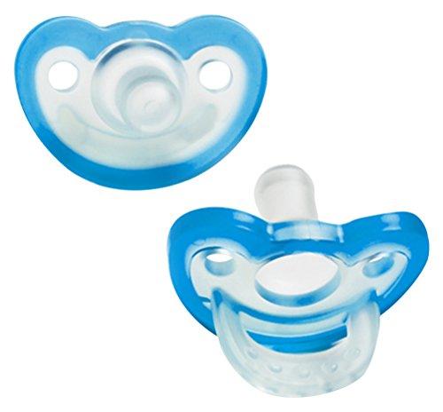 RaZbaby JollyPop Baby Pacifier Newborn, 0-3m, Blue, Double Pack