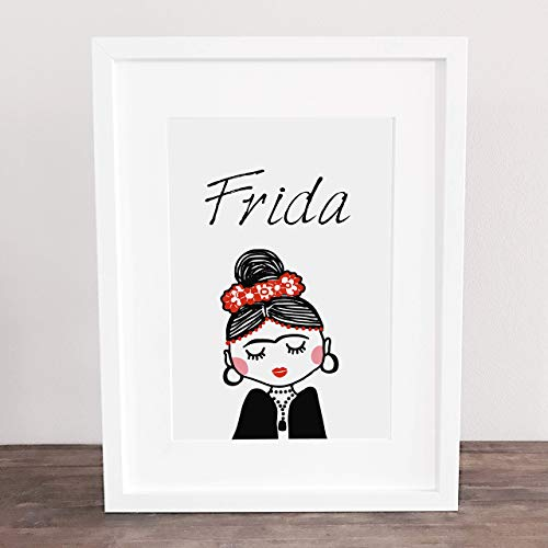Poster, Wanddeko, Bild, Kunstdruck, Frida Kahlo, Freundschaft, BFF,