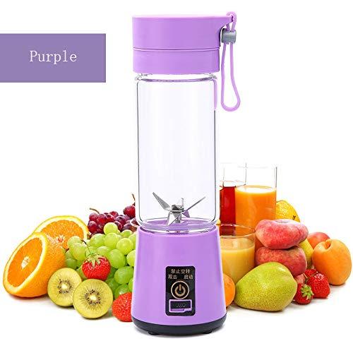 HYwot Youke persönlicher tragbarer Mixer, elektrischer Fruchtmischer mit 6 USB-Klingen, wiederaufladbar für Zuhause, Büro, Sport, Reisen, Draußen, perfekt für Obst, Gemüse, Milchshake,Purple