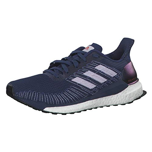 adidas Damen Boost 19 W Laufschuhe, Blau (Indigo Tech/Purple Tint/Solar Red), 42 EU