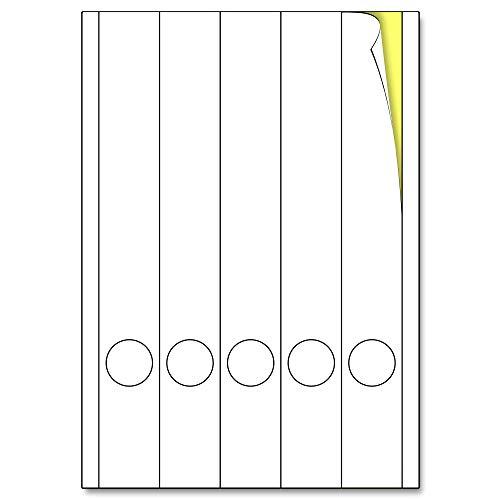 297 x 38 mm, 25 Blatt, Ordnerrücken Etiketten Aufkleber A4 Bedruckbar