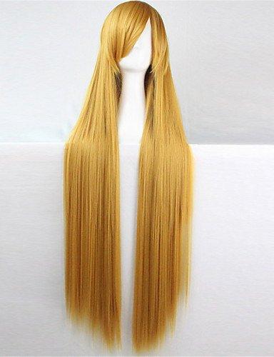 jiayy cheveux bruns Europe et les Etats-Unis la nouvelle perruque de couleur de 100 cm de soie de haute température Long foncé 34\