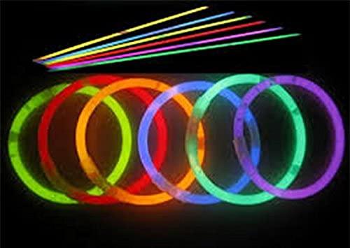 EliteKoopers 1000 pulseras brillantes para collares y fiestas, accesorios de discoteca para cumpleaños, bodas (20 cm de colores mezclados)