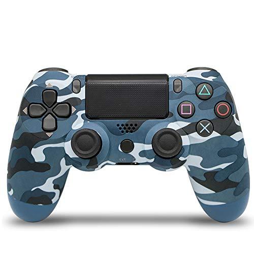 KDLK PS4-Gamecontroller | Drahtloser Bluetooth-Gamecontroller | Vibration | Support-PC, PS3-Host, Notebook, Steam-Plattform, Orange-Plattform, Fernseher, Emulator, Box | Tarnung-Blue