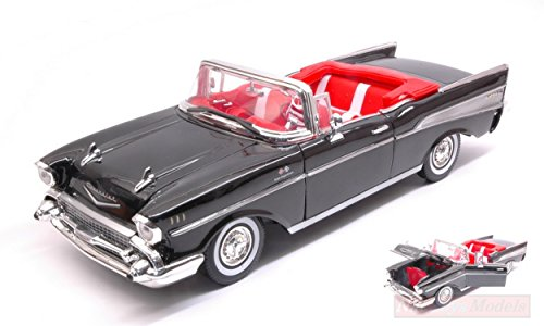 NEW MOTORMAX MTM73175BK Chevrolet Bel Air Convertible 1957 Black 1:18 Die Cast Model