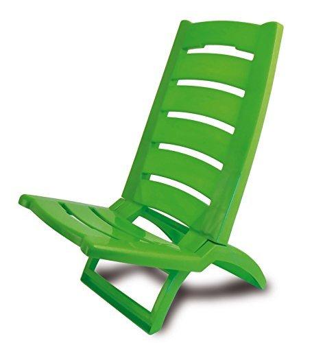 ADRIATIC 289/V - Silla de Playa Plegable de plástico para Piscina o Playa, Color Verde y Rojo, Jueg