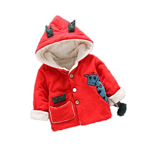 Guy Eugendssg Infant Coat Autumn Winter Baby Jackets for Baby Boys Jacket Kids Warm Outerwear Coats Red2 6M